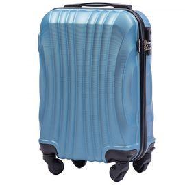 Troler Cabina WINGS SWIFT ABS 4 Roti Detasabile 50 cm Albastru